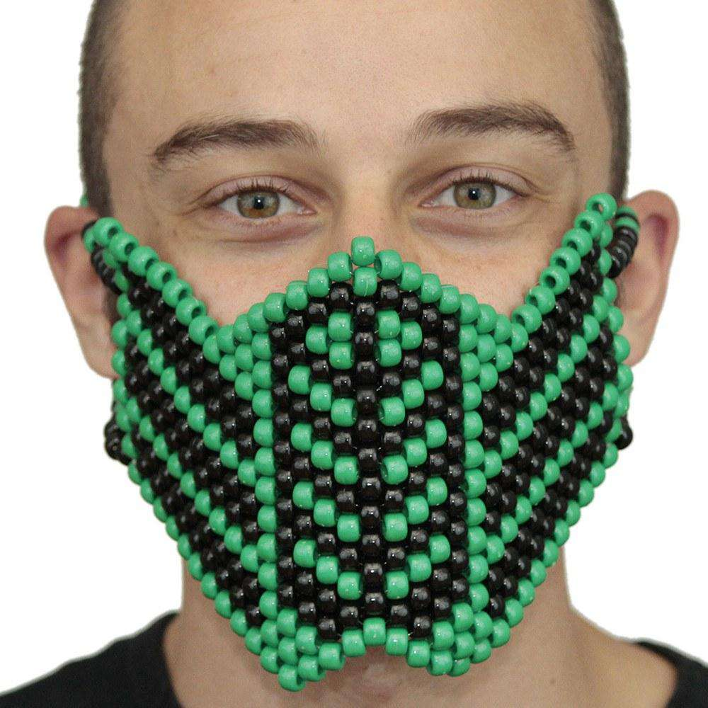 Green Reptile Mortal Kombat V1 Full Kandi Mask - Kandi Gear