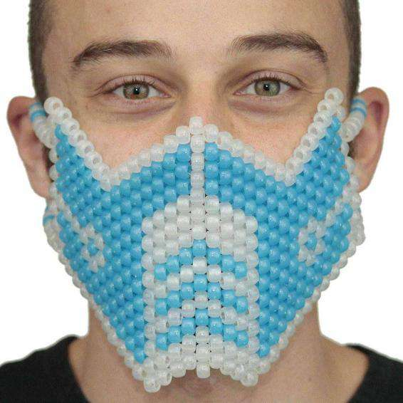 Glow In The Dark Blue Sub Zero Kandi Mask Mortal Kombat  V1 Full - Kandi Gear