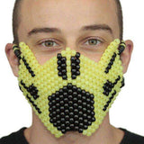 Glow In The Dark Yellow Ninja Full Kandi Mask - Kandi Gear