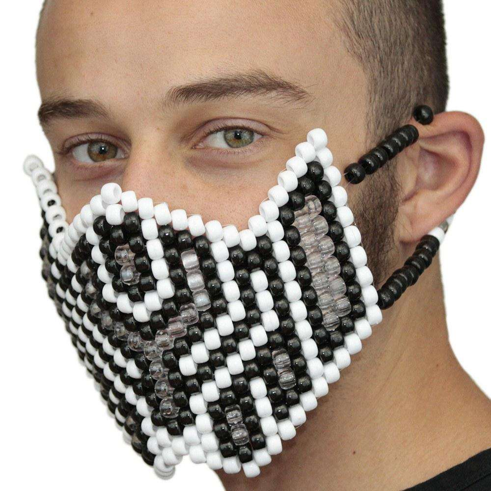 White Shadow Full Kandi Mask - Kandi Gear