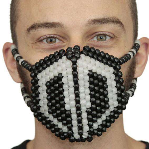 Glow In The Dark Destroid Surgical Kandi Mask - Kandi Gear