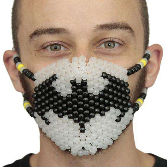Glow In The Dark Batman Kandi Mask Surgical - Kandi Gear