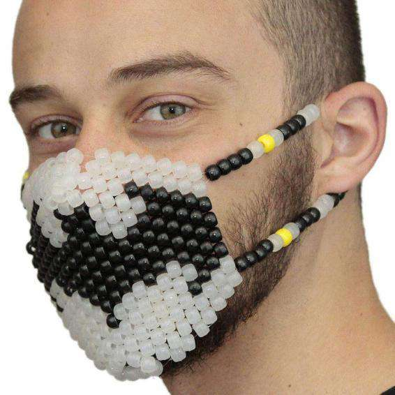 Glow In The Dark Batman Kandi Mask Surgical by Kandi Gear