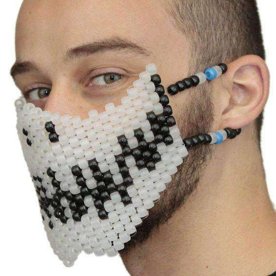 Glow In The Dark Skeleton Kandi Mask - Kandi Gear - 2