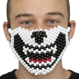 White and Black Cat Full Kandi Mask - Kandi Gear