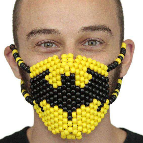 Batman Symbol Surgical Kandi Mask - Kandi Gear
