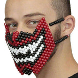 Demon Devil Teeth Face Full Kandi Mask - Kandi