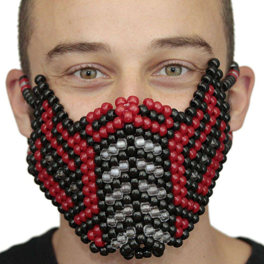 Red Sub Zero Mortal Kombat V2 Full Kandi Mask - Kandi Gear
