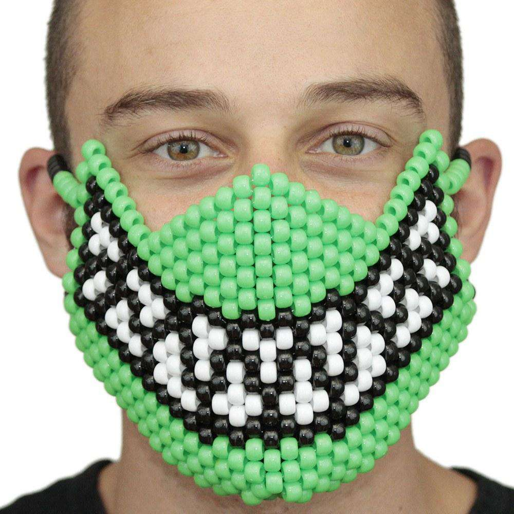 Green Feed Me Full Kandi Mask - Kandi Gear
