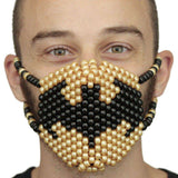 Gold Batman Symbol Surgical Kandi Mask