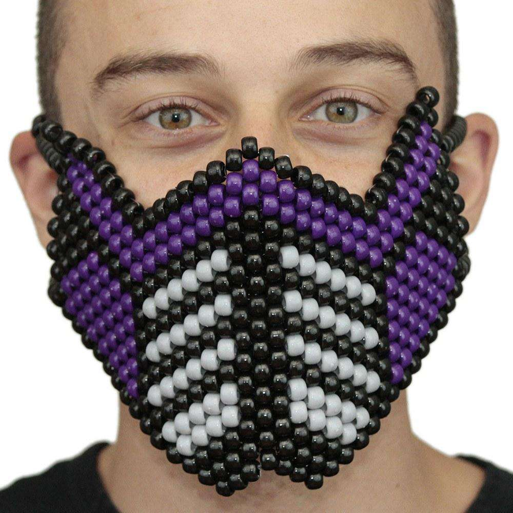 Purple Sub Zero Special Edition Full Kandi Mask by Kandi Gear