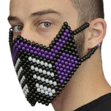 Purple Sub Zero Special Edition Full Kandi Mask - Kandi
