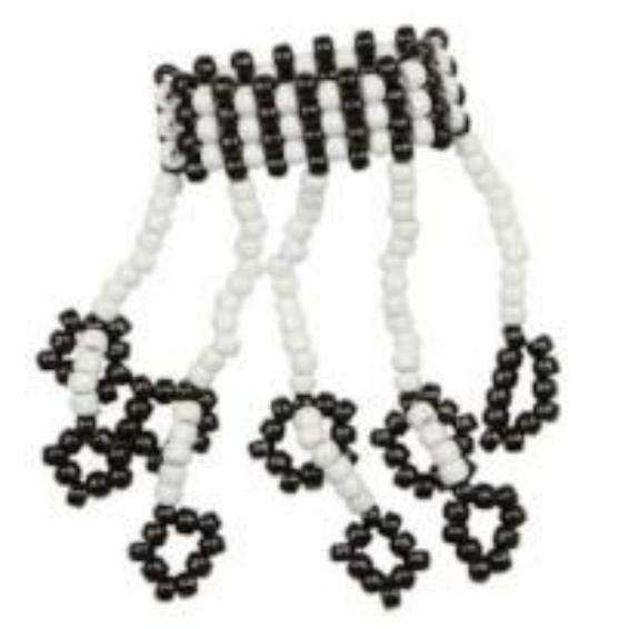 Black and White Kandi Fingerlets - Kandi Gear