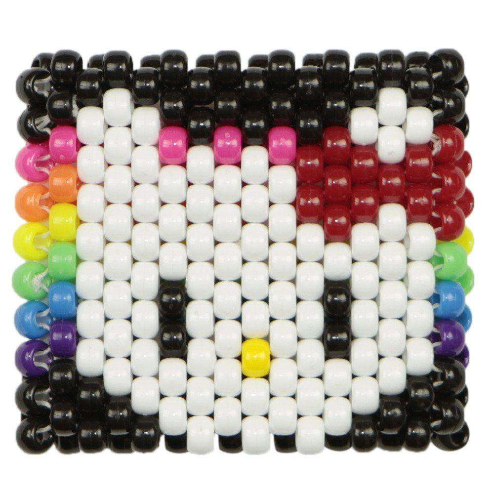 Rainbow Hello Kitty Kandi Cuff - Kandi
