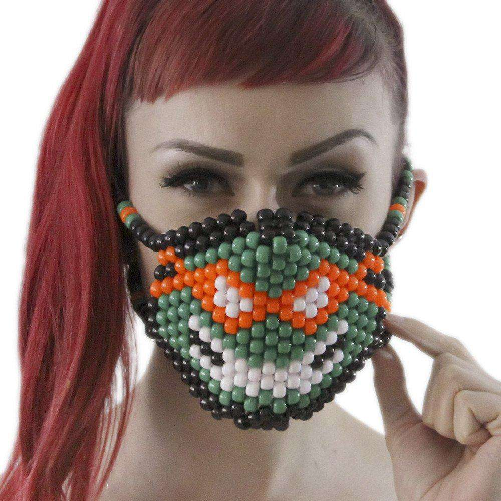 Michelangelo Ninja Turtles TMNT Kandi Mask - Kandi Gear