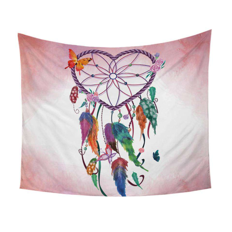Heart Dream Catcher Tapestry - Kandi Gear
