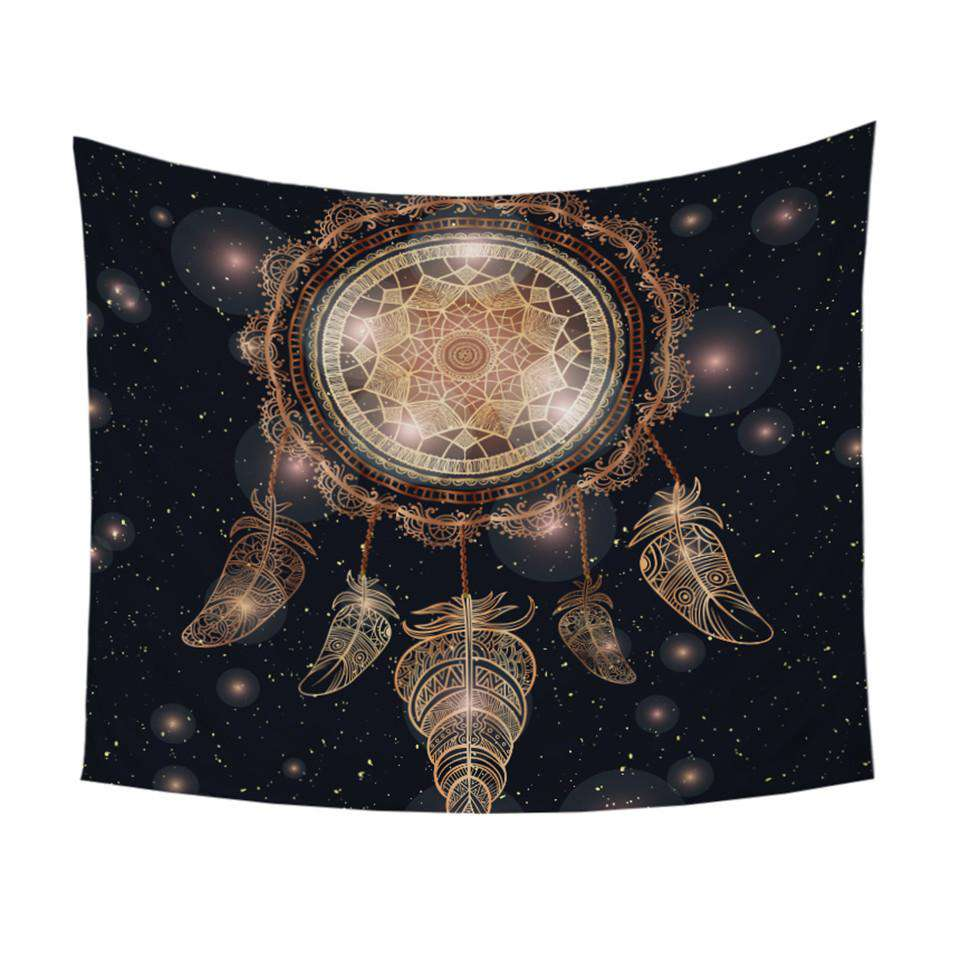 Gold Galaxy Dream Catcher Tapestry - Kandi Gear
