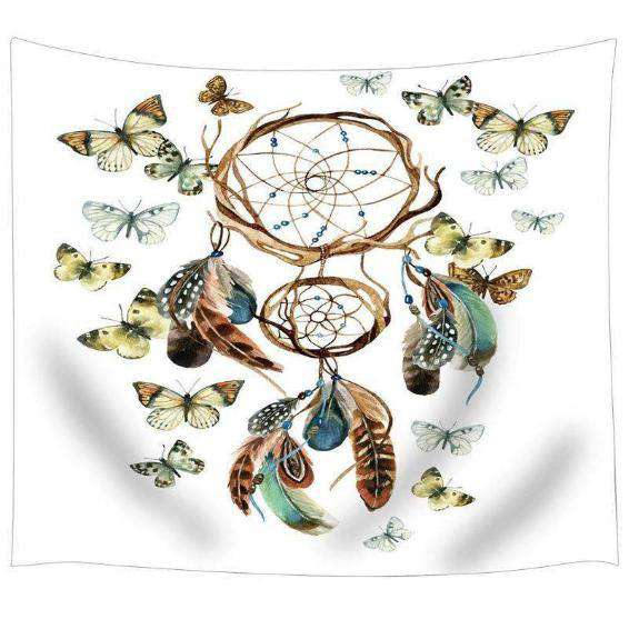Butterfly Dream Catcher Tapestry - Kandi Gear