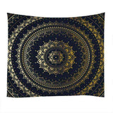 Gold & Black Mandala Tapestry