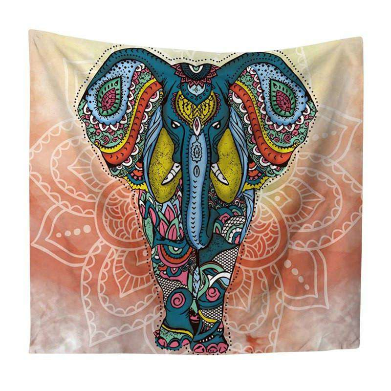 Mandala Indian Elephant Tapestry - Kandi Gear
