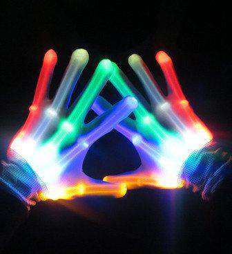 LED Gloves - Kandi Gear