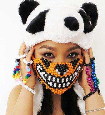 Orange Tiger Kandi Mask - Kandi Gear - 1