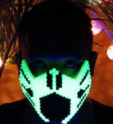 Glow in the Dark Ninja Kandi Mask - Kandi Gear