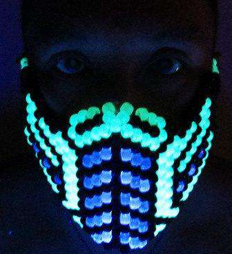 Blue Sub Zero Kandi Mask Mortal Kombat V1 Full