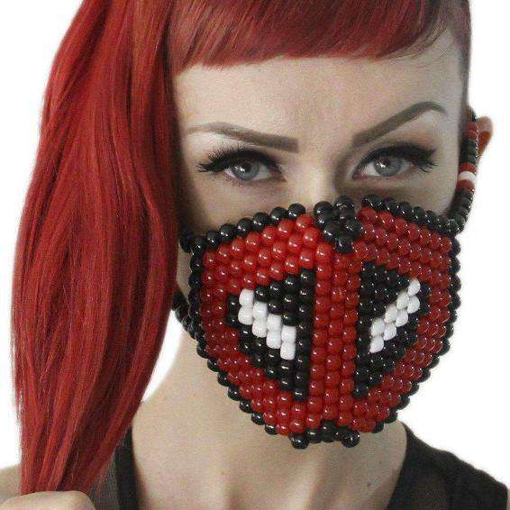 Deadpool Kandi Mask Surgical by Kandi Gear - Kandi