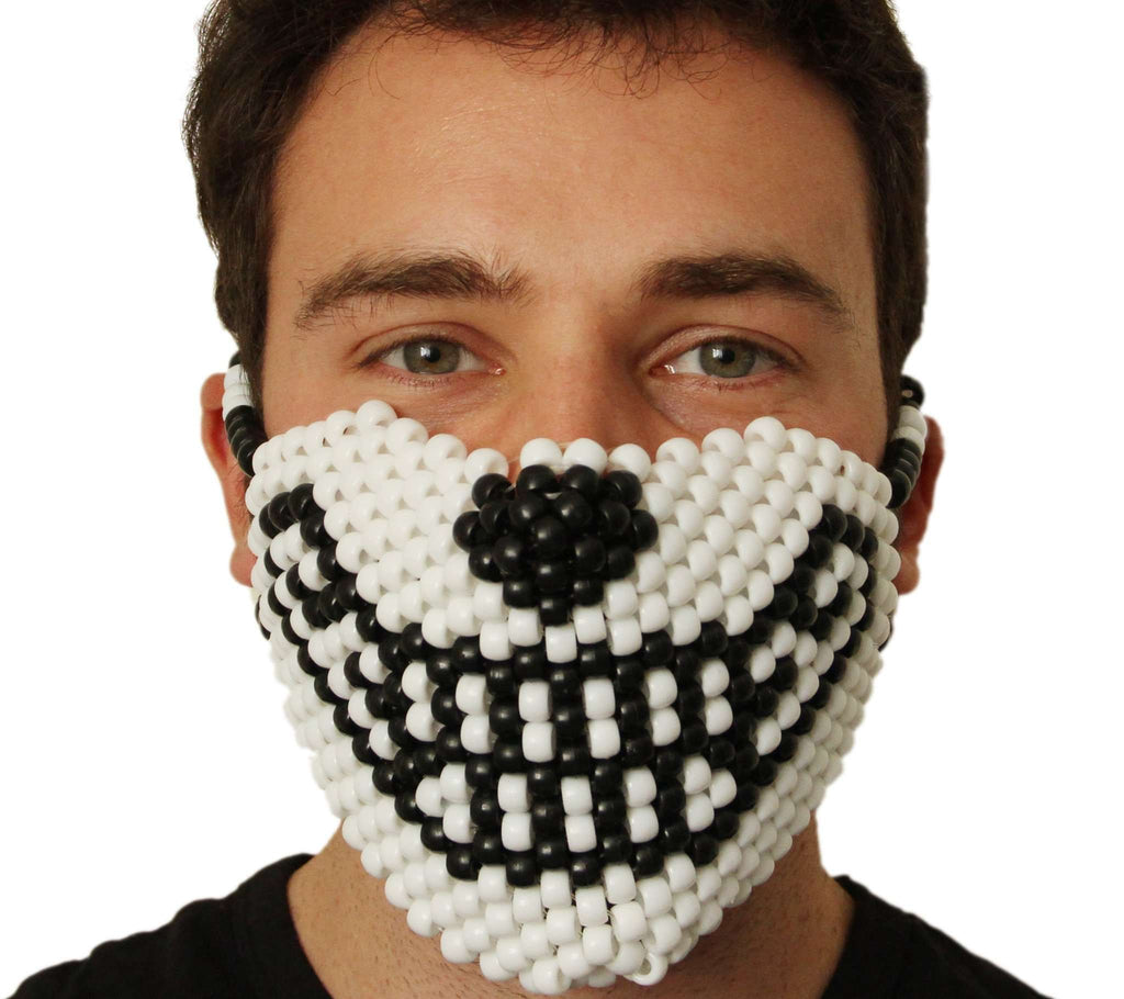 White Wolf Kandi Mask - Kandi Gear