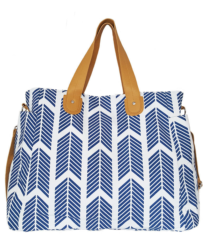 Blue Arrows Weekender Tote Bag