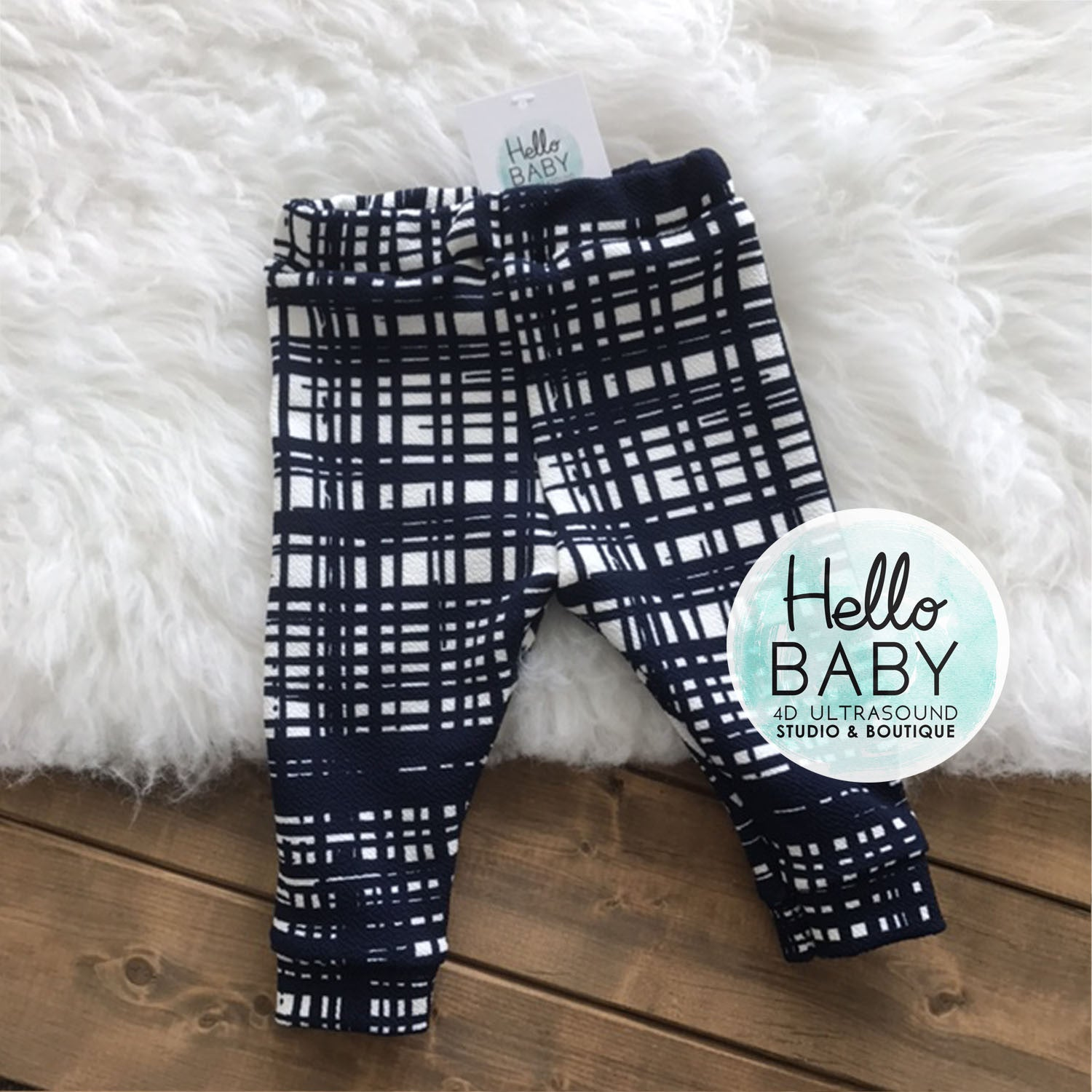 Navy Sketch Leggings