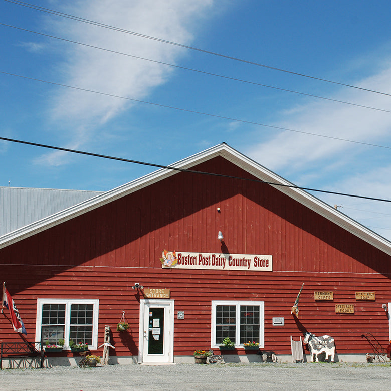 Exterior of Boston Post Dairy barn farm store