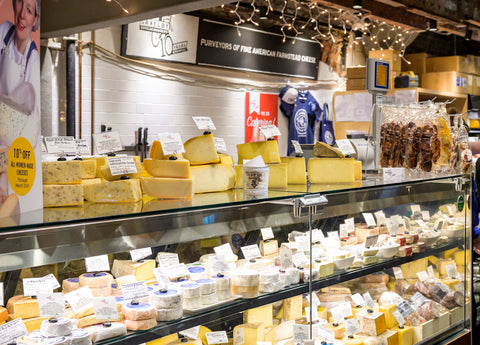 Saxelby's Chelsea Market shop cut to order cheese case