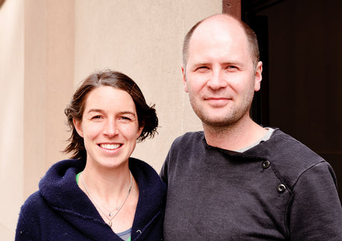 Anne Saxelby and Benoit Breal at their Red Hook cheese cave