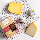 Whey Cool Women collection - three women-made cheeses, crackers, and olive tapenade