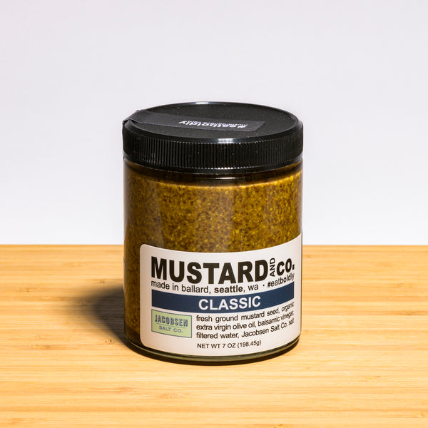 Mustard and Co. Classic Mustard, cheese accompaniments