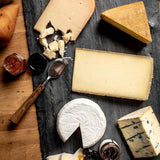 large cheesemonger's choice cheese gift box - a selection of five different cheeses with honey, jam, and fruit
