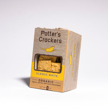 Potter's Classic White Organic Crackers, shop artisan cheese and accompaniments online