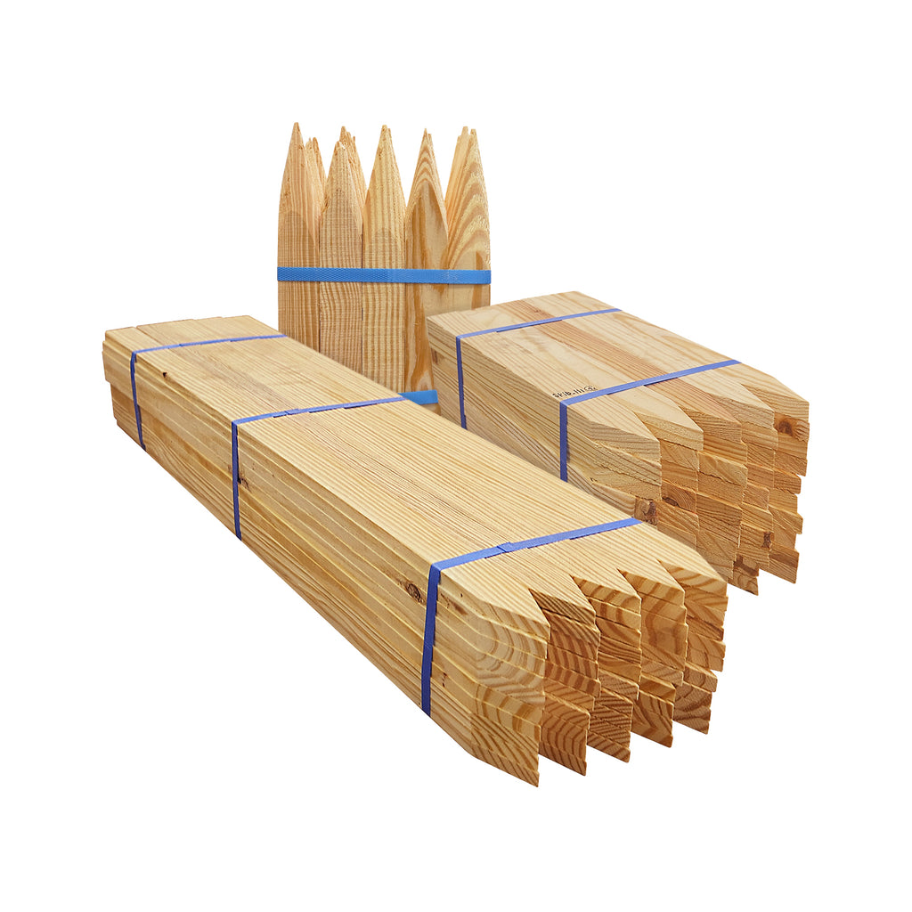 Wood Stakes, Lathes & Hubs