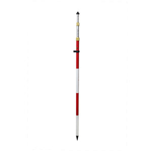 GeoMax Adjustable Tip Compression Lock Prism Pole (Metric, Ft, 10ths) -Rods, Poles & Accessories- eGPS Solutions Inc.