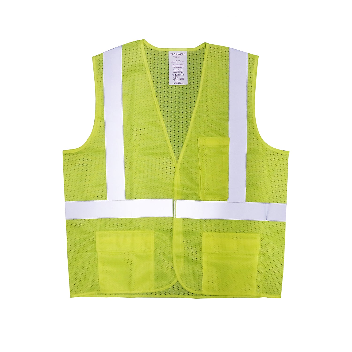 Ironwear Surveyor Safety Vest, ANSI Class 2 - Lime Mesh -Safety- eGPS Solutions Inc.