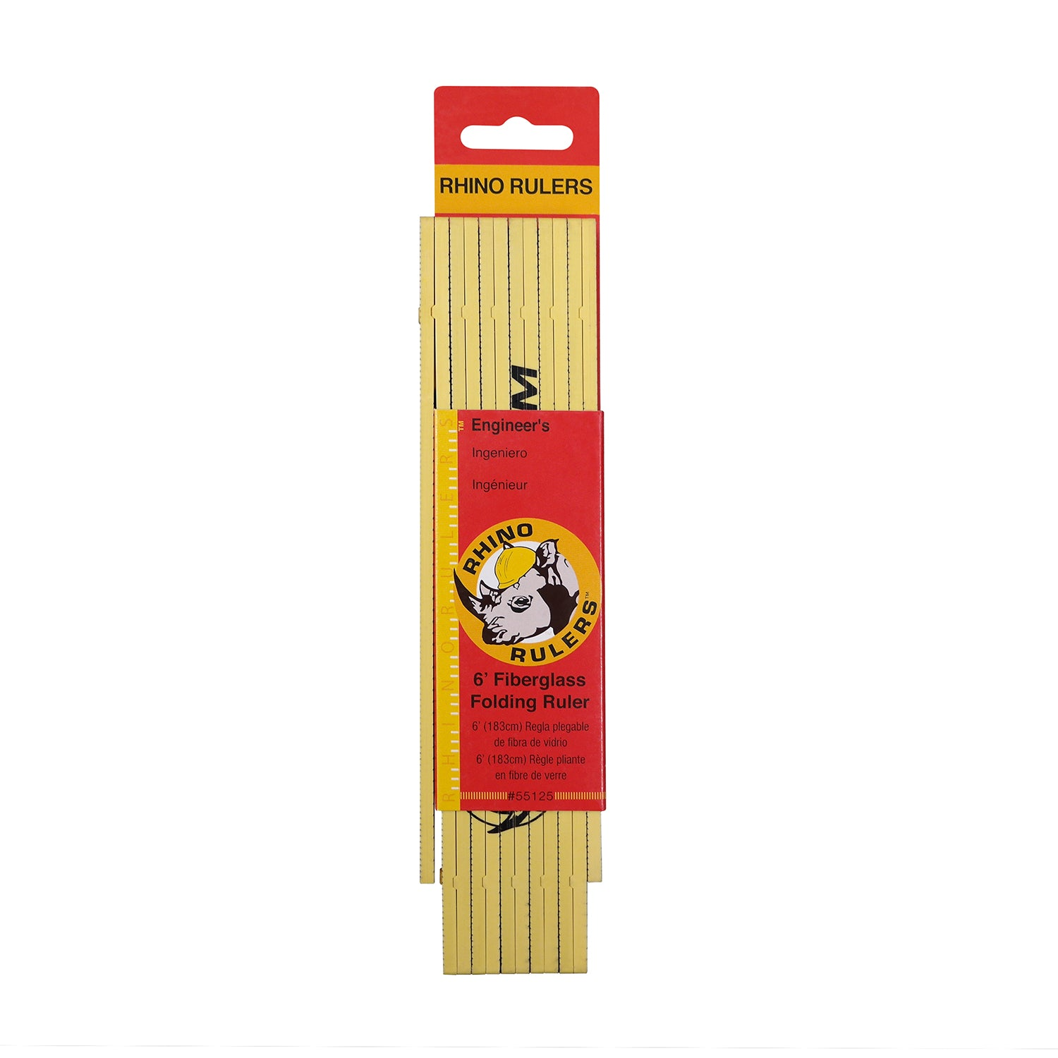 Auto Locators Of Texas >> Rhino Ruler 6' Fiberglass Folding Ruler (10ths/inches ...