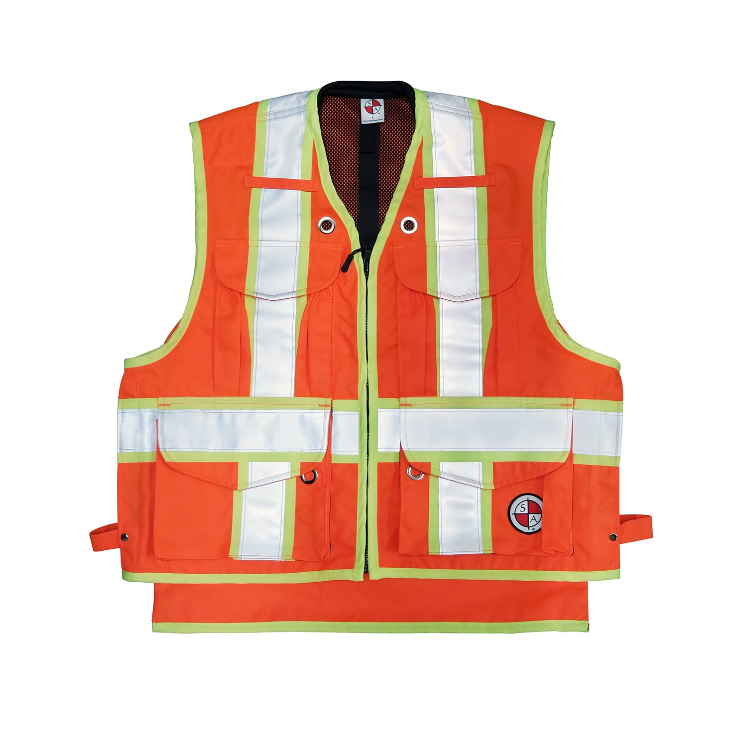 Safety Apparel X-Back Party Chief Survey Vest, Class 2 - Orange -Safety- eGPS Solutions Inc.