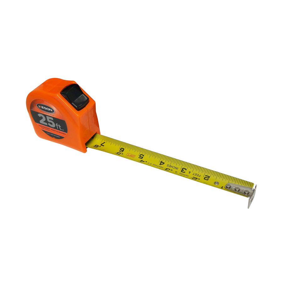 Keson 25' Toggle Series Tape Measure (In/Ft/10ths/100ths/8ths/16ths) -Measurement Tools- eGPS Solutions Inc.