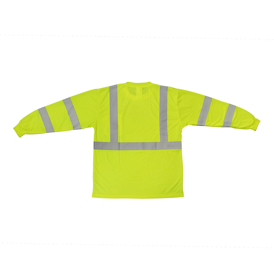 TrueCrest Hi-Vis Safety Long Sleeve T-Shirt - Lime -Safety- eGPS Solutions Inc.