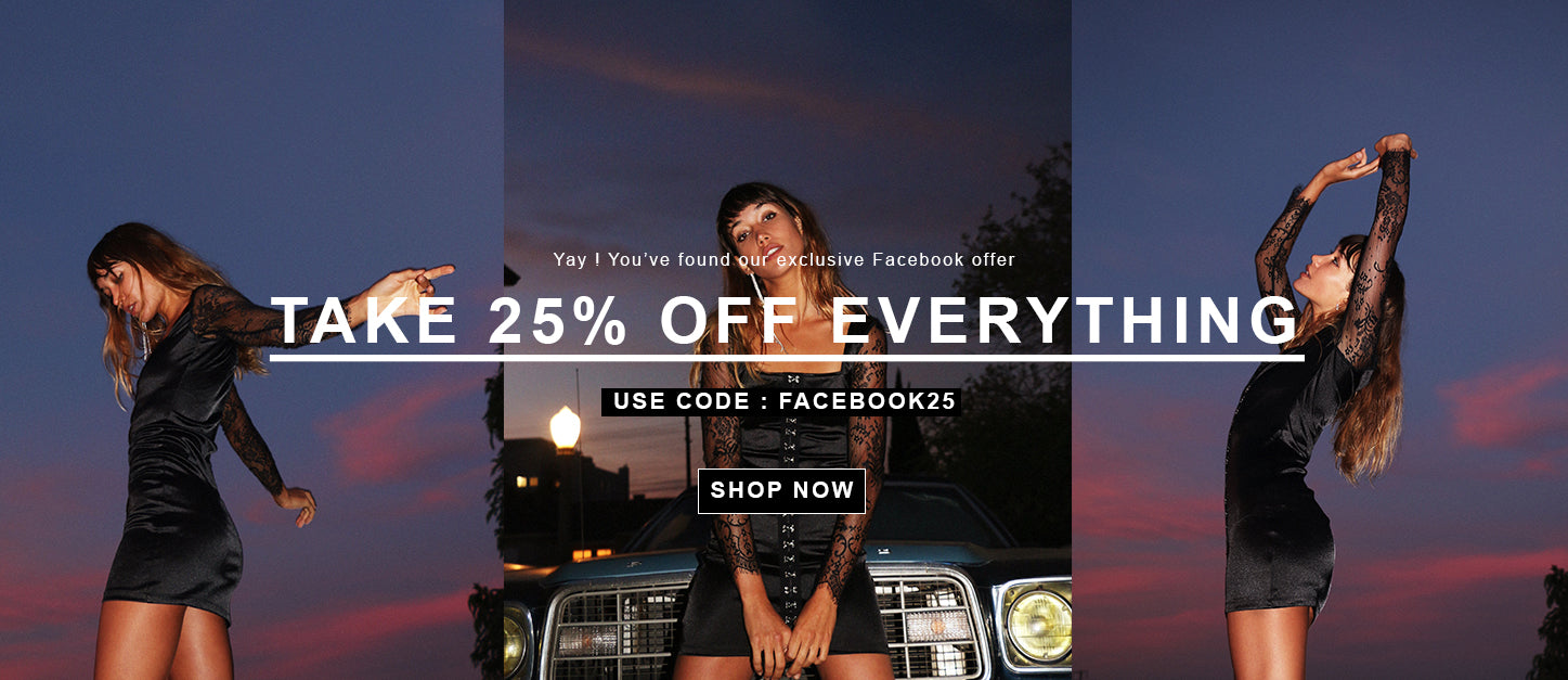 Exclusive 25%  Facebook discount