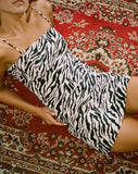 Yashey Slip Dress in 90's Zebra by Motel
