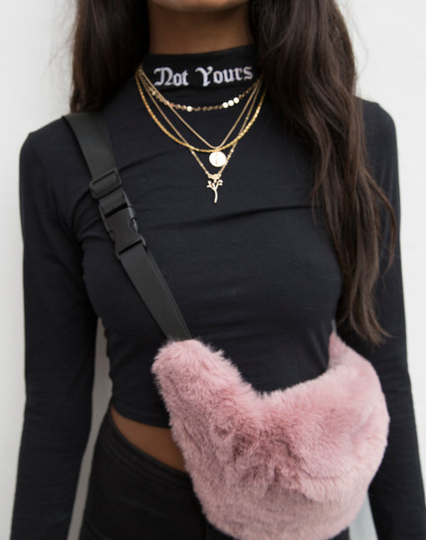 Lara Crop Top in Not Yours  by Motel