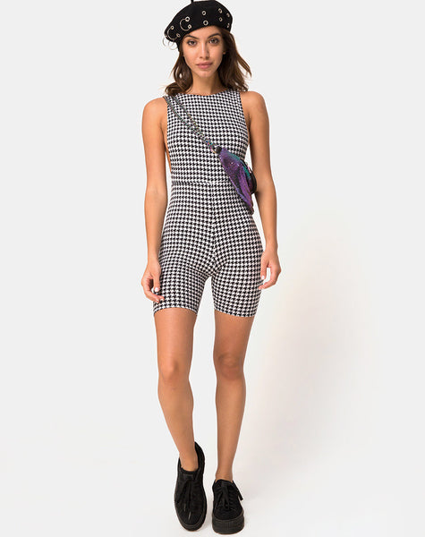 Acro Unitard in Dogtooth by Motel